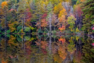 mirror-lake-terry-barnes-highlands-nc