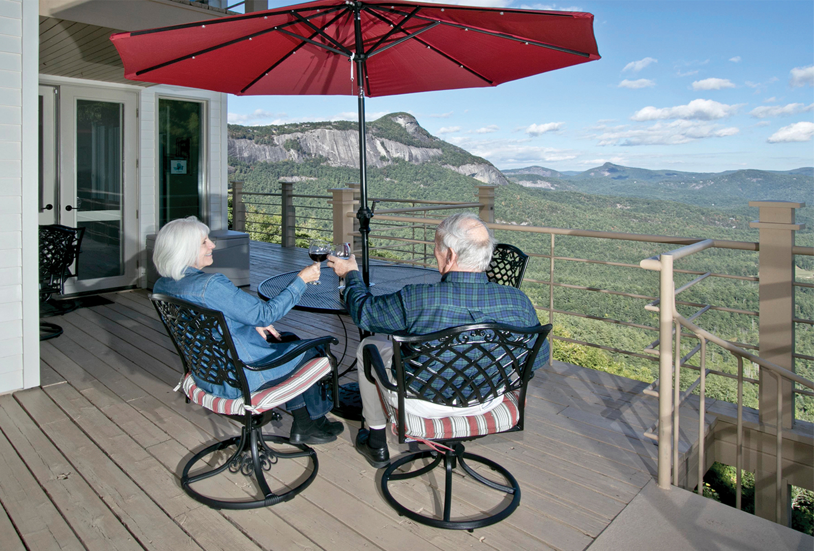 Chateau-vacation-rental-highlands-nc-deck-cheers