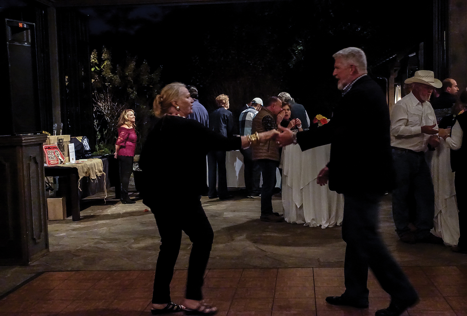 craft-beer-night-rotary-highlands-nc-dancing