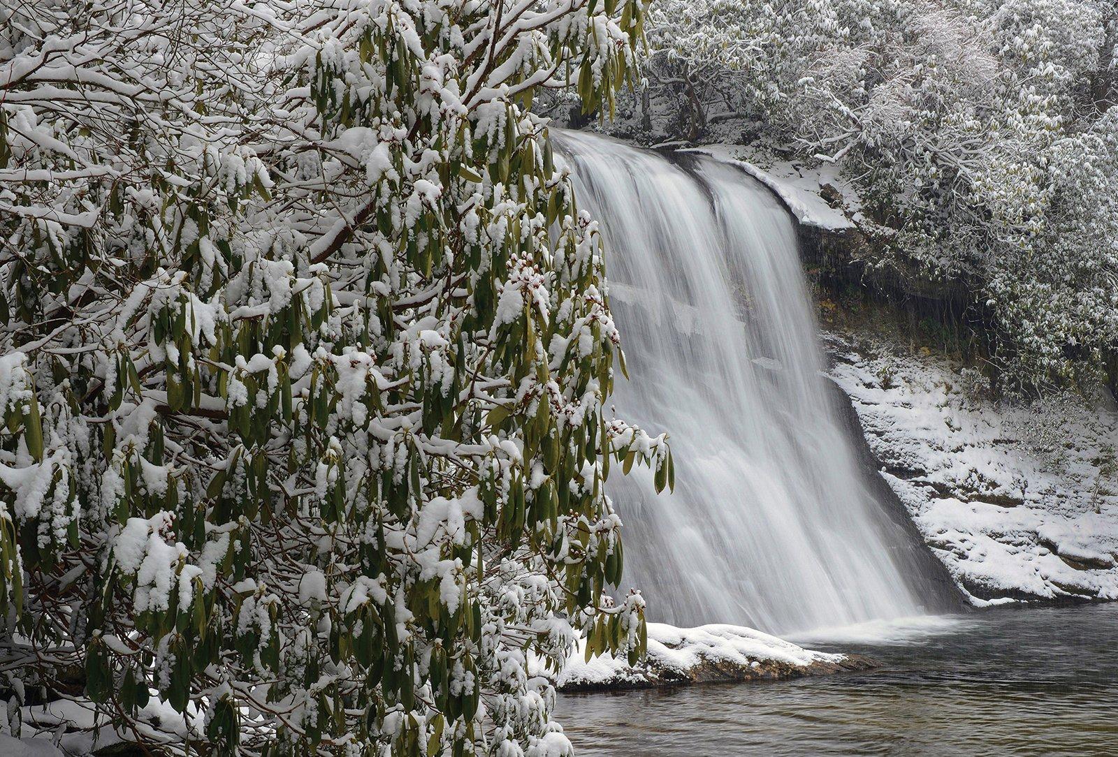 Charles Johnson Silver Run Falls Cashiers NC Waterfall
