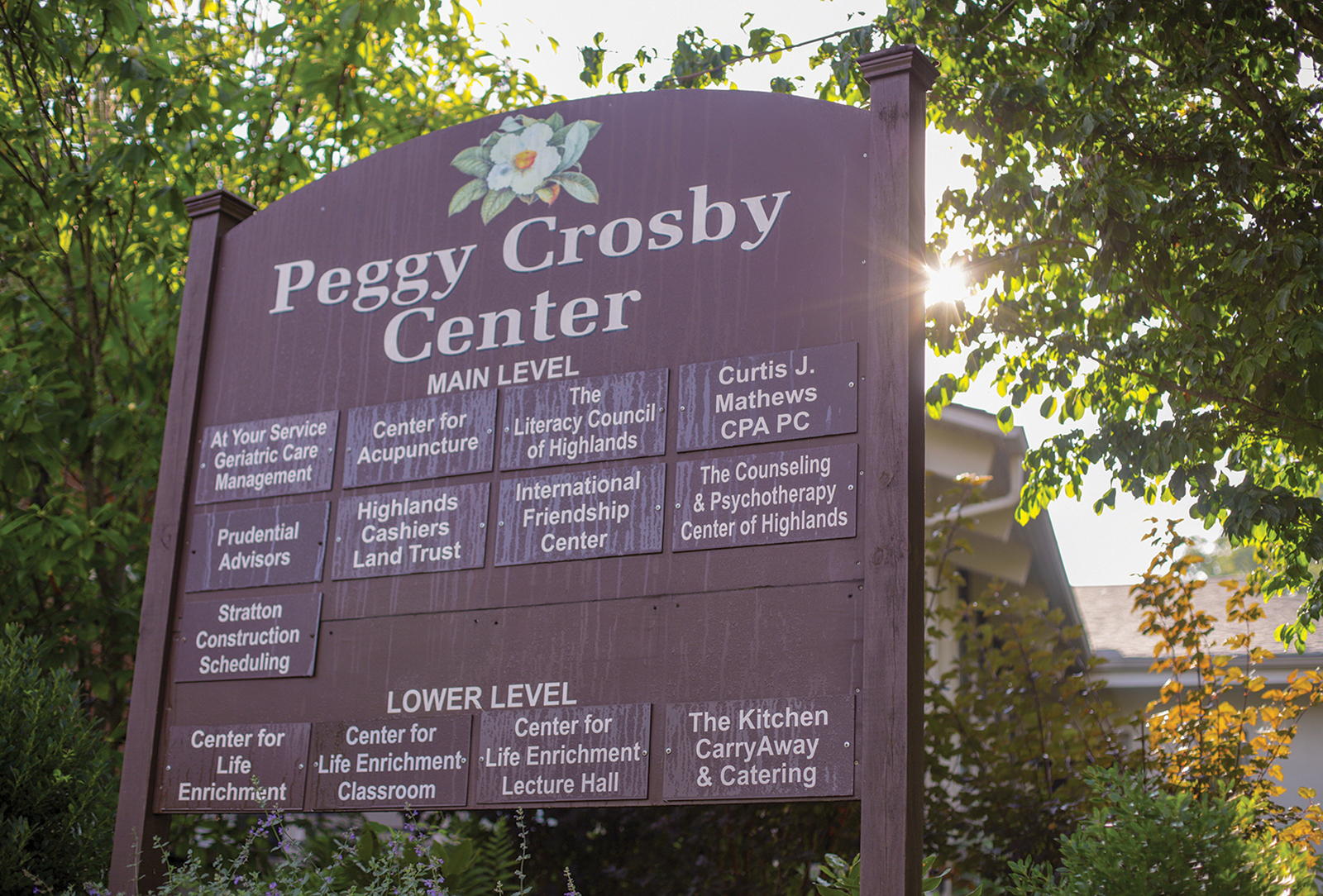 peggy crosby center highlands nc