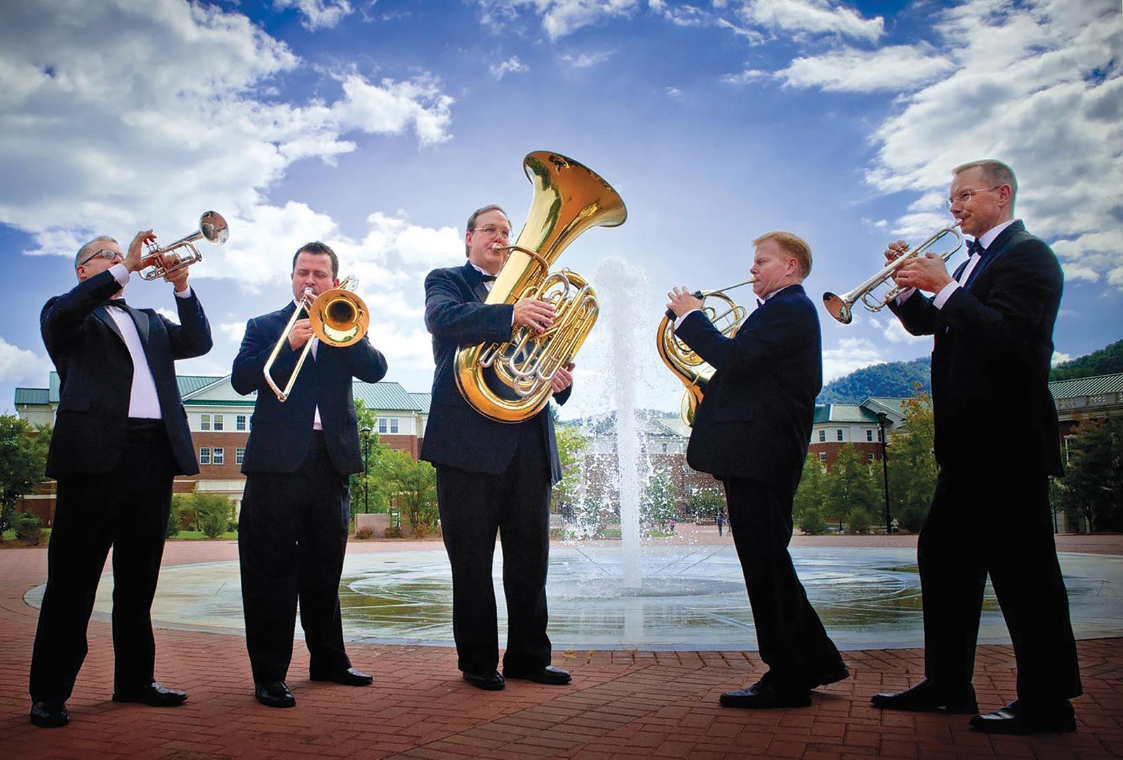 Highlands nc smoky mountain brass quintet