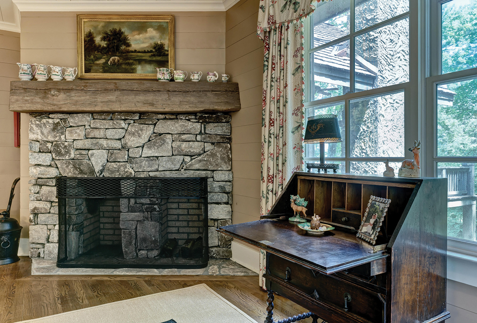 cashiers nc home for sale fireplace