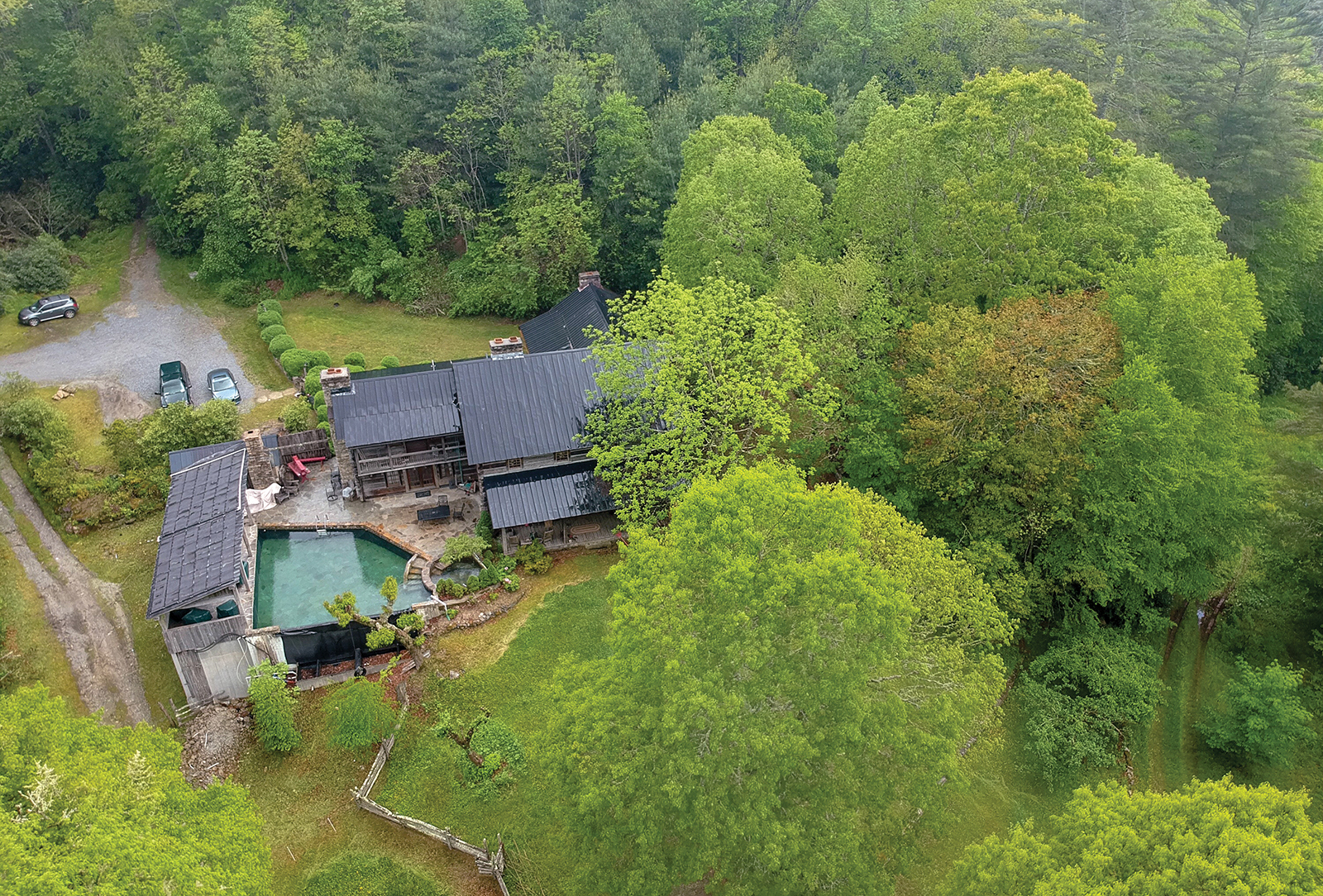 highlands nc home for sale aerial