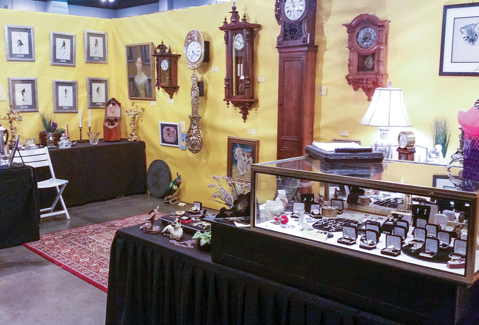 cashiers nc antique show silver display