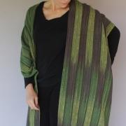 Deborah-Bryant-Handwoven-Green-Eggplant-Shawl