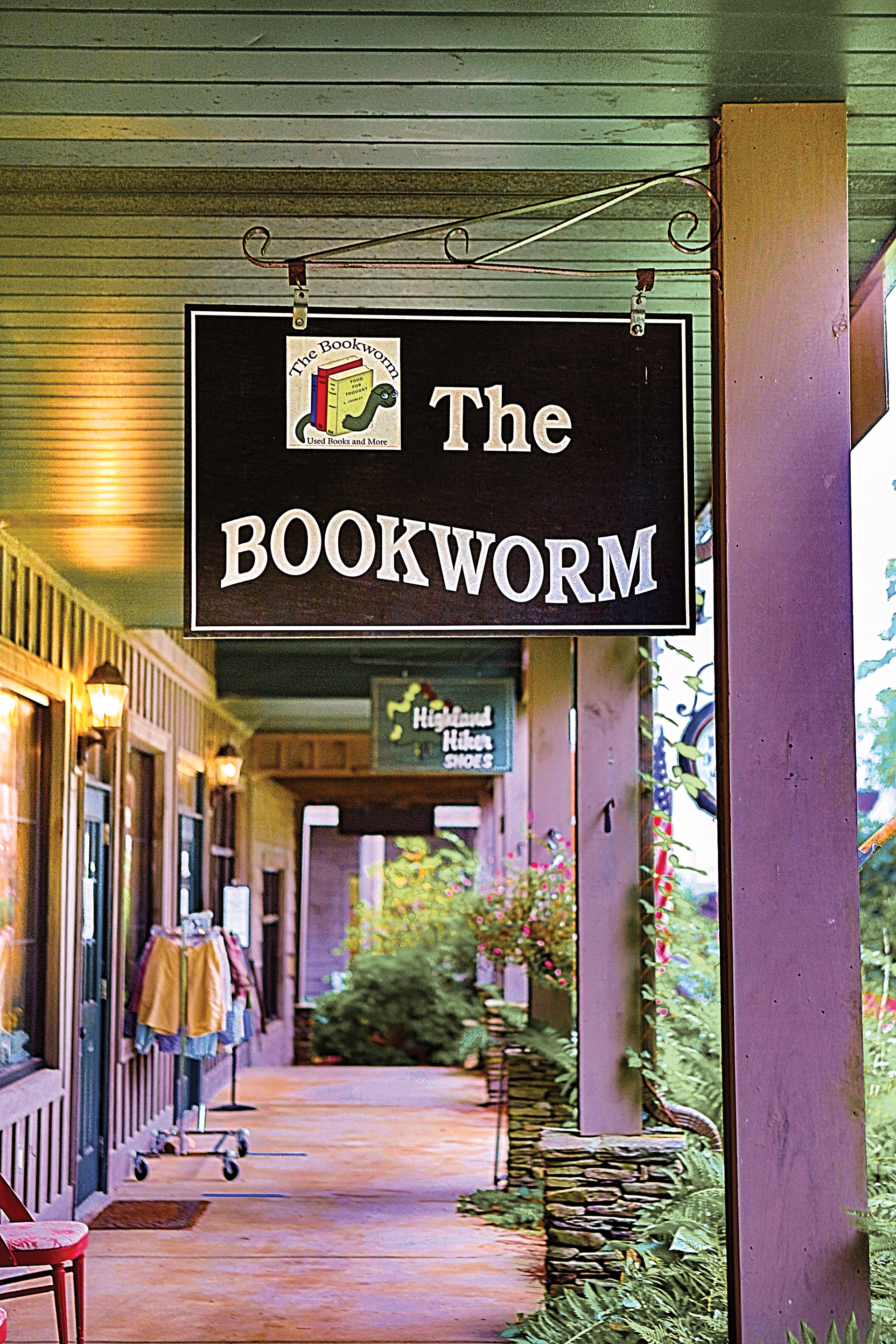 The Bookworm exterior Highlands NC