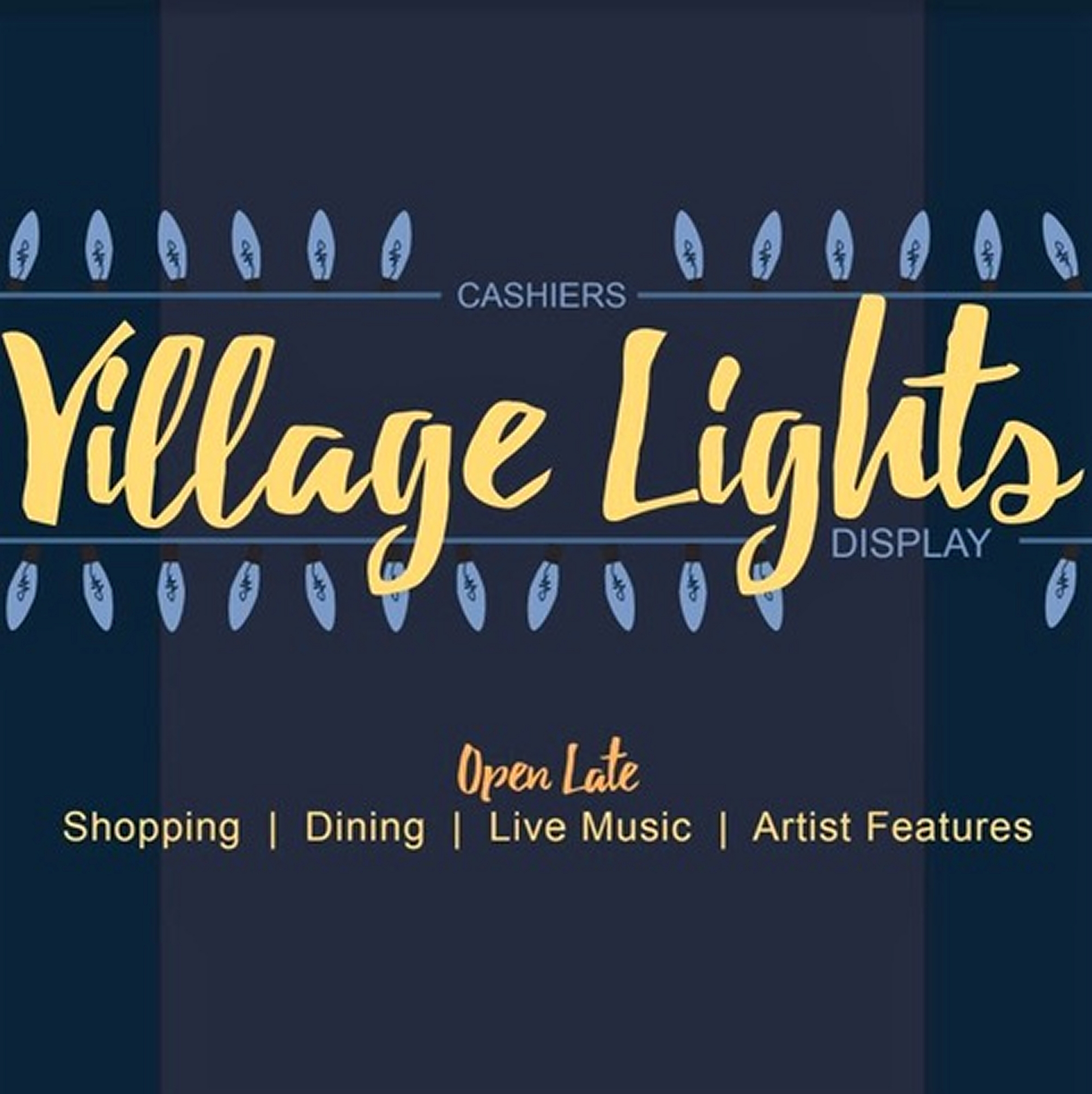 Cashiers NC Village Lights