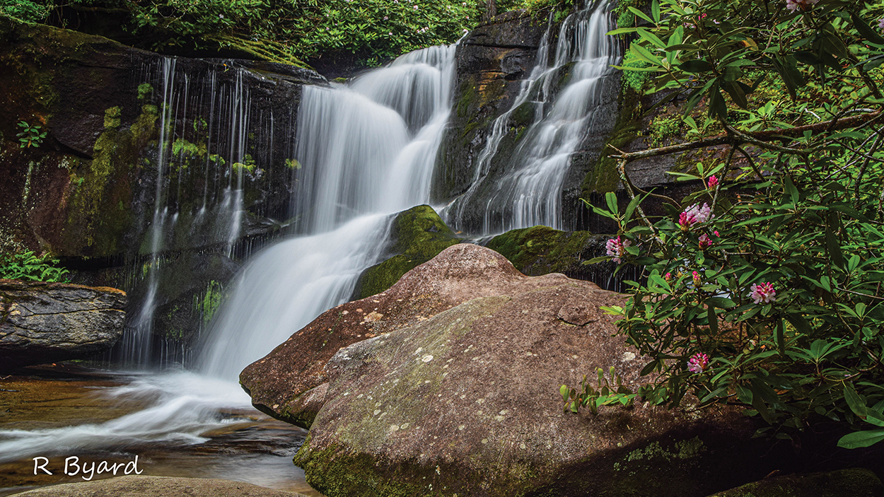 highlands-nc-cashiers-nc-Rodney-Byard-spring-waterfall