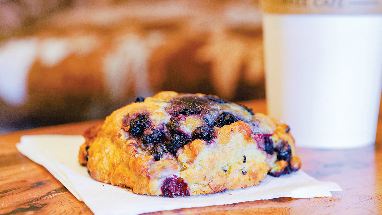 highlands-nc-dining-calders-coffee-cafe-blueberry-muffin