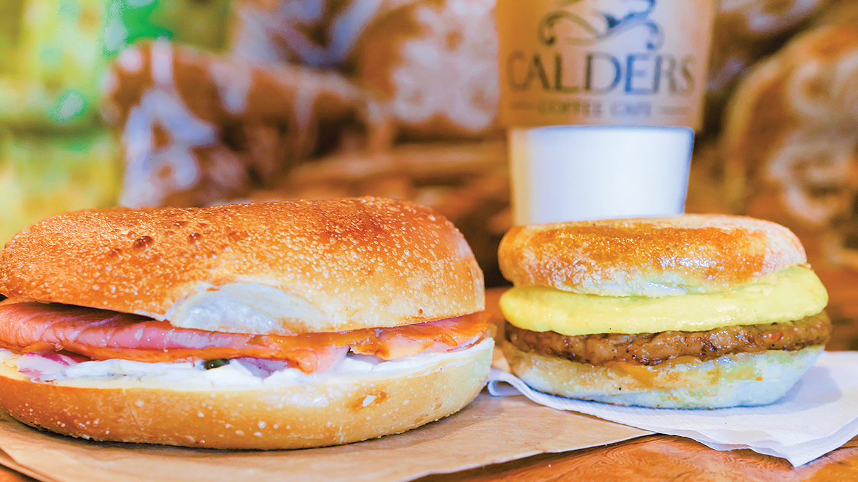highlands-nc-dining-calders-coffee-cafe-salmon-bagel