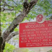moccasin-war-sign-highlands-nc