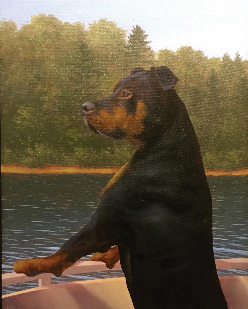 david-berger-cashiers-nc-artist-dog-boat