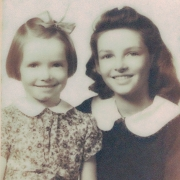 Daughters of Geneva Zachary L to R: Jane and June , circa 1943